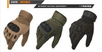 Wholesale Combat Breathable - US Army Tactical Outdoor Sports Full finger Combat airsoft Gloves Motocycle Racing Slip-resistant Carbon Fiber Tortoise Shell black