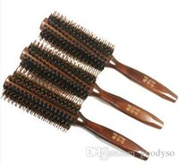 Wholesale Brushed Twill - Special Offer Bristle Curly Hair Comb Straight twill Style 6PCS Lot Free Shipping 0128B2