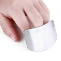 Wholesale Safe Slice - Stainless Steel Finger Hand Protector Guard Personalized Design Chop Safe Slice Knife Kitchen Cooking Tools
