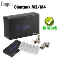 Wholesale Herb M4 - Cloupor Cloutank M3 M4 Dry Herb Wax Coil Head Fit M3 M4 Atomizer VS KANGER VOCC OCC DUAL COIL Ijust 2 Coil