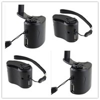 Wholesale Dynamo Charger Cell Emergency - New Arrive Dynamo Hand Crank USB Cell Phone Emergency Charger With Light