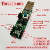 Wholesale Rs232 Usb Cables - Three in one Serial port module USB TO RS232 TTL RS485 USB Serial port module CP2102 freeshippng