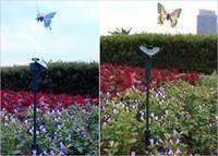 ingrosso battery solar butterflies-fashion Christmas Gift Solar Battery Powered farfalla con ala romantica Solar Flying farfalle Patio Garden Decorations prato D710J