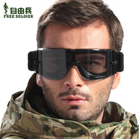 Wholesale Lens Dust Protection - Wholesale-sports eyewear Free Soldier Outdoor protection x800 tactical goggles Impact resistance lens bulletproof dust glasses sunglasses