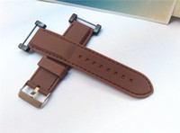Wholesale Watch Suunto Sports - New 24mm For Suunto Core Watch Band Brown Soft and Waterproof Rubber Silcone Strap+Stainless Buckle PVD Adapters+ Lugs Free Shipping - 058