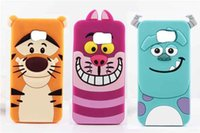 Wholesale Galaxy Grand Duos 3d Cases - 3D Monsters Sulley Tigger Alice Cat Silicone Case For Samsung Galaxy S6 Edge A3 A5 A7 Grand 2 Duos G7106 i9082 Core Prime G360 G530