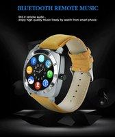 Wholesale Mp3 Player Camera Fashion - New Fashion Smart Watch X3 Smartwatch Pedometer Fitness Clock Camera Sim Card Mp3 Player For Watchphone