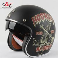 Wholesale Casque Open Face Moto - Wholesale-Torc t57 3 4 vespa open face vintage scotter motorbike helmet motocross capacete cascos moto retro casque casco de motocicleta