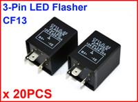 Wholesale Electronic Signal Flasher - 20PCS CF13 JL-02 LED Flasher 3 Pin Electronic Relay Module Fix Car Motor LED SMD Turn Signal Light Error Flashing Blinker 12V 0.02A TO 20A