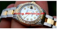 Wholesale Luxury Mother Pearl Fashion - Factory Supplier LUXURY WOMAN'S MOTHER PEARL DIAL WATCH DIAMONDS BEZEL & LUGS LADIES 179173 WATCHES