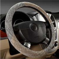 Wholesale Steering Wheel Sweat Cover - Four Seasons General flax cotton sweat skid car steering wheel cover to cover factory outlets