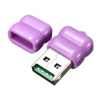 Barato Leitor De Cartão Usb Sd Purple-480 Mbps Individual roxo bonito Mini USB 2.0 Micro SD TF T-Flash Memory Card Reader Adaptador T10 Para Windows Para Mac OS Para Linux