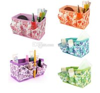 Wholesale Makeup Cosmetic Storage Box Bag Bright Organiser Foldable Stationary Container