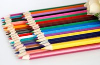 paint appliances - PrettyBaby Low Price Colors Wooden Color Pencils for Secret Garden Coloring Books Drawing Painting School Appliance rainbow pencil