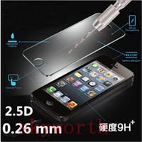 gehärtetes glas für s4 großhandel-0,26 mm Premium Gehärtetem Glas Displayschutzfolie für iphone 5 5 s 5se 6 6 + plus samsung galaxy s5 s4 s6 s7 edge