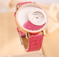 100 шт. Lot Flow sand diamond female wristwatch Quicksand Watch Quartz Crystal Watch Модный наручный часовой пояс