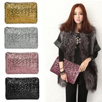 Wholesale Silver Purse Clutches - New Fashion Dazzling Glitter Sparkling Bling Sequins Evening Party purse Bag Handbag Women Clutch wallet