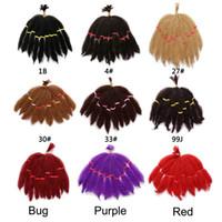 Wholesale kinky bulk hair wholesale online - Afro Kinky Bulk Crochet Twist Braiding Hair Pieces For Black Women Senegalese Twist Synthetic Fiber Hair Extensions PACK G