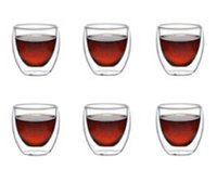 Wholesale Bodum Espresso - Wholesale-6Pcs lot Bodum Pavina Double Wall shot Glass 80ml,Double Wall Glass Coffee tea Espresso Cup ,Novelty gift