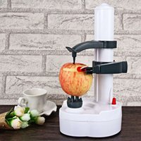 Wholesale Peel Fruit Machine - 2016 Multifunction Stainless Steel Electric Fruit Apple Peeler Potato Peeling Automatic Machine With Two Spare Blades Hot Sale