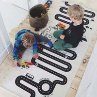Wholesale Playing Car Games - Baby Kids Cotton Room Car Road Trip Adventure Play Game Mat Carpet Floor Rug 3 Colour