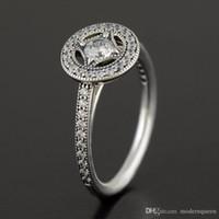 anéis vintage pandora venda por atacado-Anel do vintage S925 prata esterlina se encaixa para o estilo de pandora pulseira e encantos jóias Frete Grátis