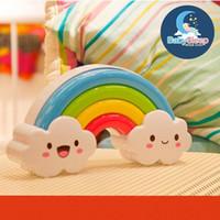 Wholesale Child Comforters - 100% new Rainbow LED Night Light Lamp for Baby Kids Children Lamp Sleep Light Illumination by Sound Sensor Sleep Soother Comforter