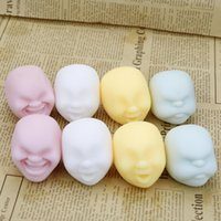 Wholesale human face dolls for sale - Human Face Vent Ball Multi Color Amusing Expression Dolls Novelty Antistress Relax Adult Reduce Pressure Plaything Creative Gift qh C