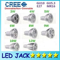 High Power CREE Led Lâmpada 3W 4W 5W 6W 8W 10W 12W Dimmable GU10 MR16 E27 E14 GU5.3 B22 Led Light Spotlight lâmpadas led de lâmpada led