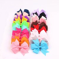 Baby Girl Grosgrain Ribbon Haar Bows Boutique Alligator Clip Mode Kinder Haarspangen und Barrettes Haarschmuck
