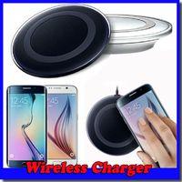 qi kablosuz şarj tablası toptan satış-Galaxy S6 Qi Kablosuz Şarj Pad Verici Samsung S6 Kenar Cep Telefonları Için Hızlı Şarj Plaka Ücretsiz Kargo