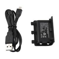 kablosuz şarj istasyonu şarj istasyonu toptan satış-USB Şarj Edilebilir Oynamak ve Şarj Yedek Pil Şarj Kiti için XBOX ONE X Slim Kablosuz Denetleyici Çift Şarj Dock İstasyonu