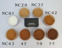 Wholesale yellow blocks resale online - 8colors Matte Makeup Powder Face Cream Fix Face Powder MC Foundation Powder g NC05 NC20 NC35 NC42 NC43 NC45 NC50 NC55 DHL shipping