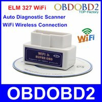Wholesale Newest Mini ELM327 WiFi Scanner Code Reader For Multi Brand Cars Support IOS Android OBD II Mini WiFi ELM Diagnostic Tool
