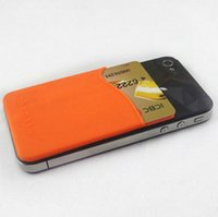 Wholesale Universal Smartphone Wallet - 2016 Prefer cheap Universal Silicone Wallet Purse business smart wallet pouch card holder smart wallet case Card Holder for smartphone