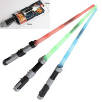 Wholesale Extendable Light - Extendable Star Wars lightsabers Electronic Lightsaber Led Flashing Light Sword Cosplay Star Wars Toys for Children Christmas Xmas gifts