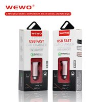 Wholesale I Port - WEWO Quick charger 15W high-quality car chargers 3.1A original Qualcomm 3.0 fast and safe charging port For i Phone iOS Android