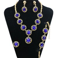 Zeal Fashion Simulated Pearl Bridal Jewelry Sets Prata / Gold-Color Necklace Set Casamento Jóias Parure Bijoux Femme Flower