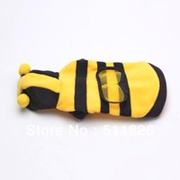Wholesale Dog Dressed Bumble Bee - Wholesale-Pet Dog Puppy Dress Cute Honey Bumble Bee Design Costume Outfit Apparel Clothes 8760 FREE SHIPPING