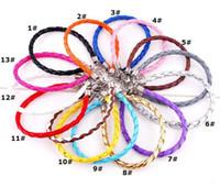 erkek örgüleri toptan satış-Satılık Moda Takı Deri Infinity Charm Bilezik Vintage moda takı toptan NACHLASS 0028DR için ucuz Infinity Bilezikler