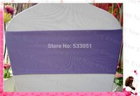 Gros-Lavender couleur unique Spandex Layer Bands / Lycra Band / Chair Cover Jupettes Pour Wedding Party Banquet Décoration