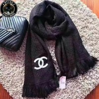 Wholesale Winter Warm Knit Gloves White - Good Quality Fashion Women Men Winter Warm Braided Knit Wool Long Scarves Wraps Shawls Black White Unisex Scarves Accessories 180*40cm