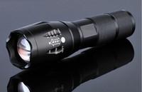 lanterna tática xml t6 venda por atacado-E17 cree xml t6 led lanterna 2000 lumens tático à prova d 'água zoomable poderosa lâmpada de acampamento lanternas de tocha por 3xaaa ou 18650 bateria