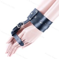 Wholesale Games Sexo - Leather Finger cuffs,hand cuffs,fetish,sex products for couples,bondage restraints,sex game,sexo,sex products for sex shop