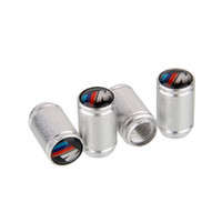 Wholesale Wheel Air Dust Cap - Mixed Wholesale Universal Silver Aluminum Car Wheel Tire Valve Caps Stem Air Dust Cover For BMW M Power 4pcs set