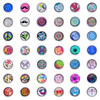 Wholesale Button 7mm - 100pcs mixed mini 12*7mm enamel glass crystal Noosa snap ginger snap button Amsterdam Chunks Clasps Snap Jewellery Noosa B33292