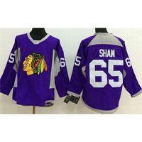 Wholesale Cheap Wholesale Sport Jersey - Mens Blackhawks Ice Hockey Jerseys #65 Andrew Shaw Purple Sports Jerseys Best Quality Hockey Uniforms Cheap Hockey Wears Christmas Sale