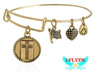 Wholesale Alex Ani Cross - New charm DIY bracelets for women Alex and Ani bracelet cross New Beginning Steel ring Valentine's day gifts SZ52