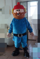 Wholesale Photo Nose - 100% real photos of rudolph the red nosed reinderer the old man mascot costume for adult to wear