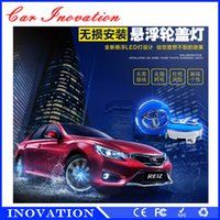 Wholesale Cap Solar Energy - Car Styling Toyota 4pcs 12Leds Car Covers Solar Energy Power wheels hub light waterproof RGB Wheel Center Cap LED Rims Tires For Cars
